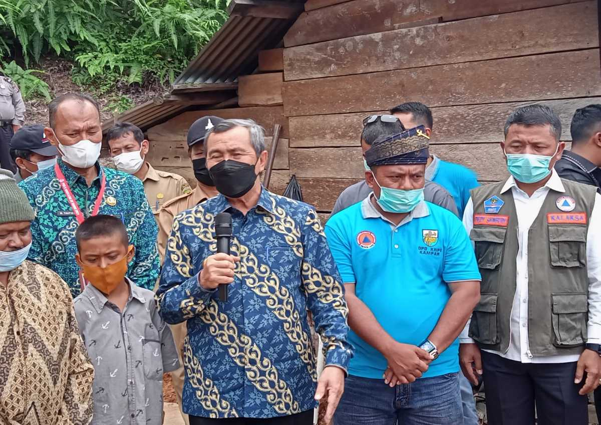 Peresmian Pembangunan Rumah Layak Huni di Desa Silam Kecamatan Kuok